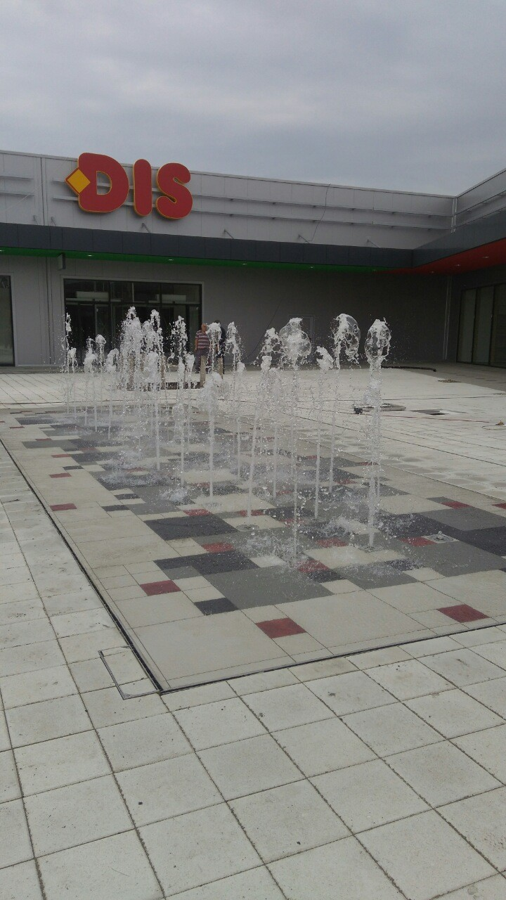 company cases about Heguang New Fountain Light installation in serbia