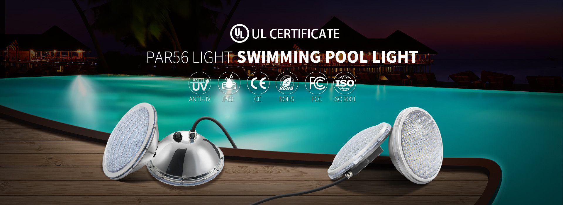 China best Stainless Steel Pool Lights on sales