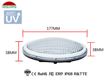 White Color 18W IP68 LED Pool Light , Waterproof Lights For Swimming Pool supplier