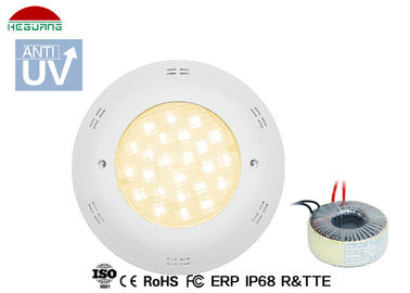 China Warm white 3000K 13W IP68 waterproof AC/DC 12V ABS material fiberglass pool lights supplier