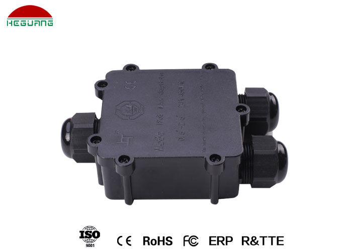 Waterproof Pool Light Accessories , 5-9mm / 12-15mm Three Way Junction Box supplier