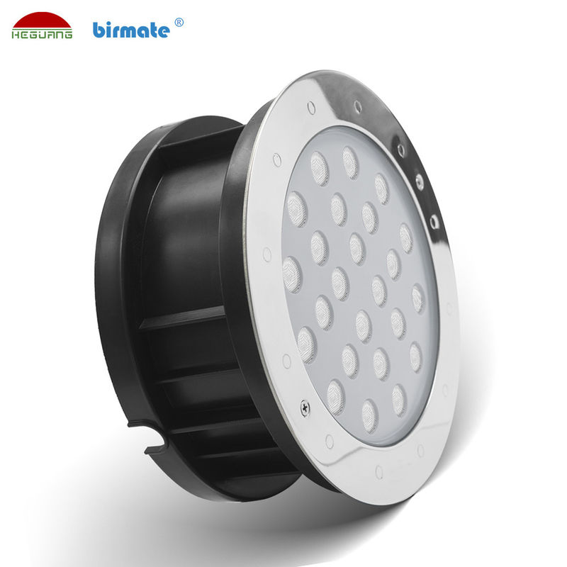 High Brightness 18W Led Ground Lights Outdoor IP68 Waterproof DMX512 RGB Control