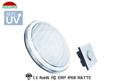 China White Color Thin IP68 LED Pool Light , Par56 Pool Light ABS Anti UV PC Cover distributor