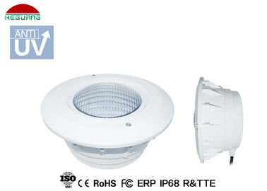 China White Swimming Pool Light Housing , Pool Light Niche Cover ABS Plastic Body factory