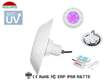 China RGB Synchronous Control Vinyl Round Pool Lights IP68 Waterproof 12V AC 18W Surface Mount distributor
