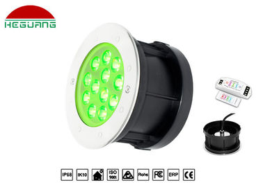 China 9W Recessed Underwater Light , Stainless Steel Color Changing Led Pool Lights distributor