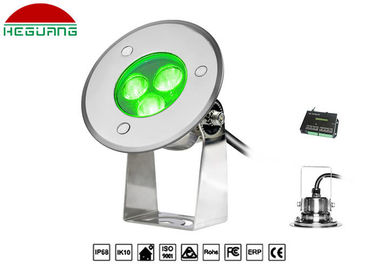 China RGB Color Underwater Led Lights DMX512 Control 12v 3W Aluminum Grounding Pole distributor