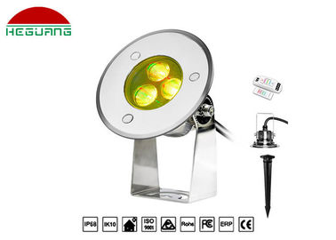 China Waterproof IP68 Outdoor Led Pin Lights , 24V 3W LED Recessed Pin Light For Park factory
