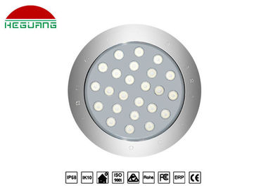 China 1500ma Current Underwater Led Lights 36W Pure 6500K DC 24V Shinning Angle 30° factory