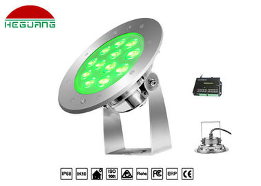 China RGB External Control Underwater Led Lights 12W Ip68 Waterproof Wide Beam Angle distributor