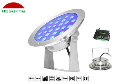 China DMX512 Control Underwater Swimming Pool Lights 24W Color Changing SS316L DC12/24V distributor