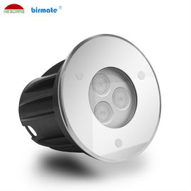 China Mini 3W Led Ground Lights 316L Stainless Steel Tempered Glass Cover External Control factory