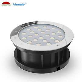 China 24W Ourdoor RGB External Control Led Ground Lights , Waterproof IP68 Low Voltage DC 24V Ground Light factory