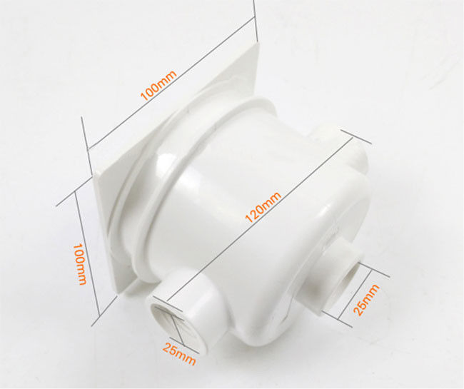 White Color Swimming Pool Light Electrical Box 16mm - 18mm Hole Position