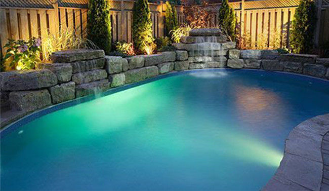 3000K Led Color Changing Pool Light , 2 Wires Waterproof Lights For Swimming Pool