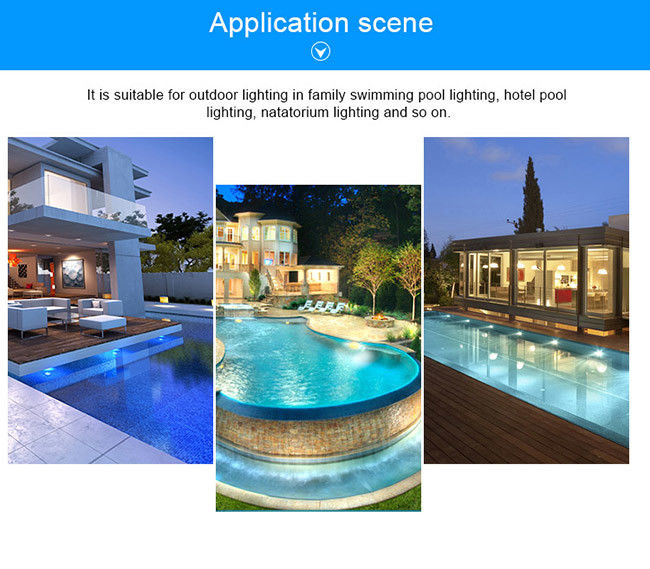 RGB synchronous control 2 wires 12V AC 3W IP68 surface mounted LED pool light