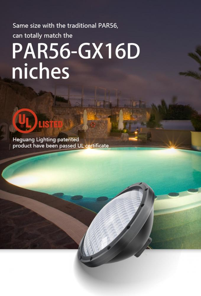 17W UL Certificated Pool Light RGB Color Baby Swimming Pool With GX16D Base