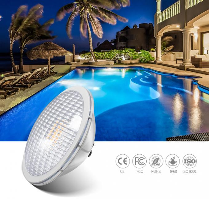 316L Stainless Steel Par56 LED Pool Light AC/DC12V  65W IP68 Under Water Pool Bulb Outdoor Pool