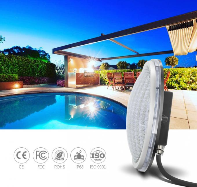 4 Wires Out IP68 LED Pool Light ABS Material RGB 17W DC 12V External Control