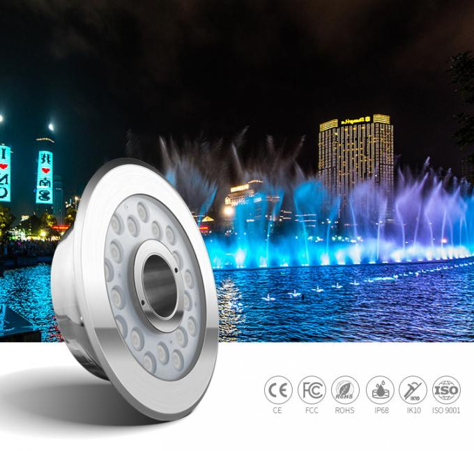 DC24V Wateroof IP68 SS316L  Aquare Led Fountain Lights Underwater 18W DMX512 RGB Control